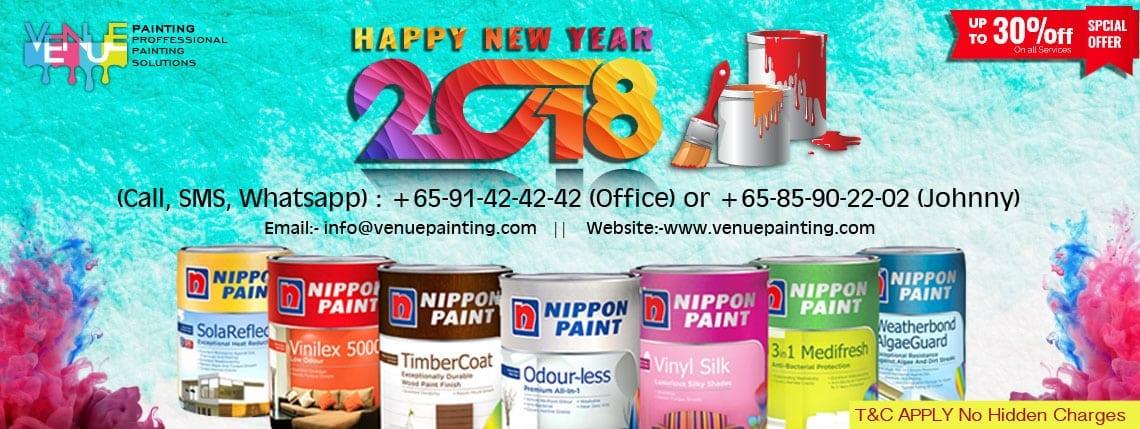 Venue Painting Happy New Year