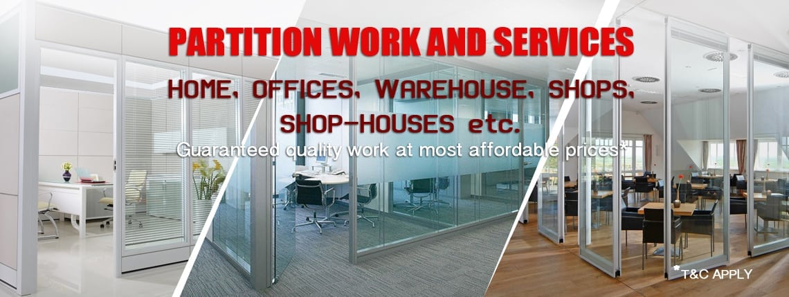 Partition work services in singapore